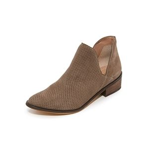Kaanas Thar Booties in Taupe Suede